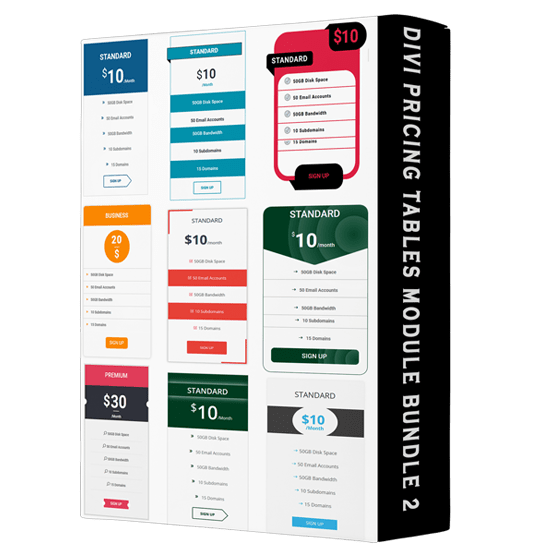 Divi Pricing Tables Module