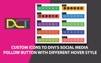 Custom Icons to Divi's Social Media Follow Button With Different Hover Style