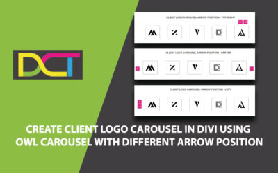 Create Client Logo Carousel In DIVI Using Owl Carousel With Different Arrow Position