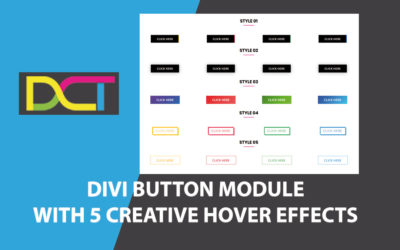 DIVI Button Module With 5 Creative Hover Effects