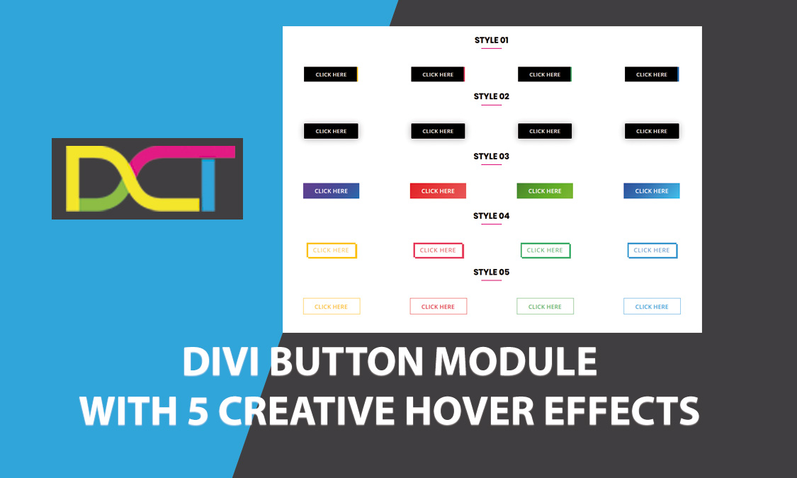 DIVI Button Module With 5 Creative Hover Effects | Divi