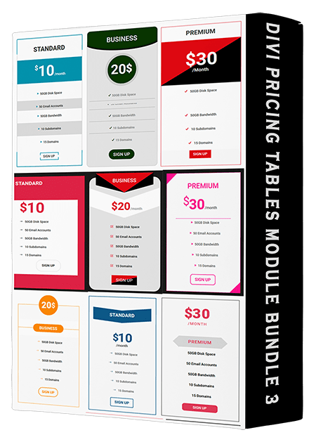 Divi Pricing Tables