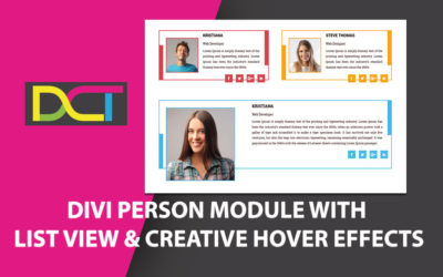 DIVI Person Module With List View And Creative Hover Effects