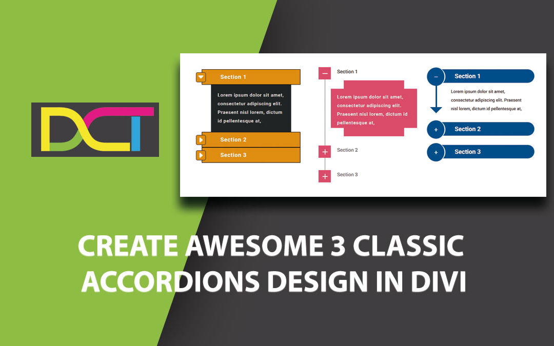 Create Awesome 3 Classic Accordions Design in Divi