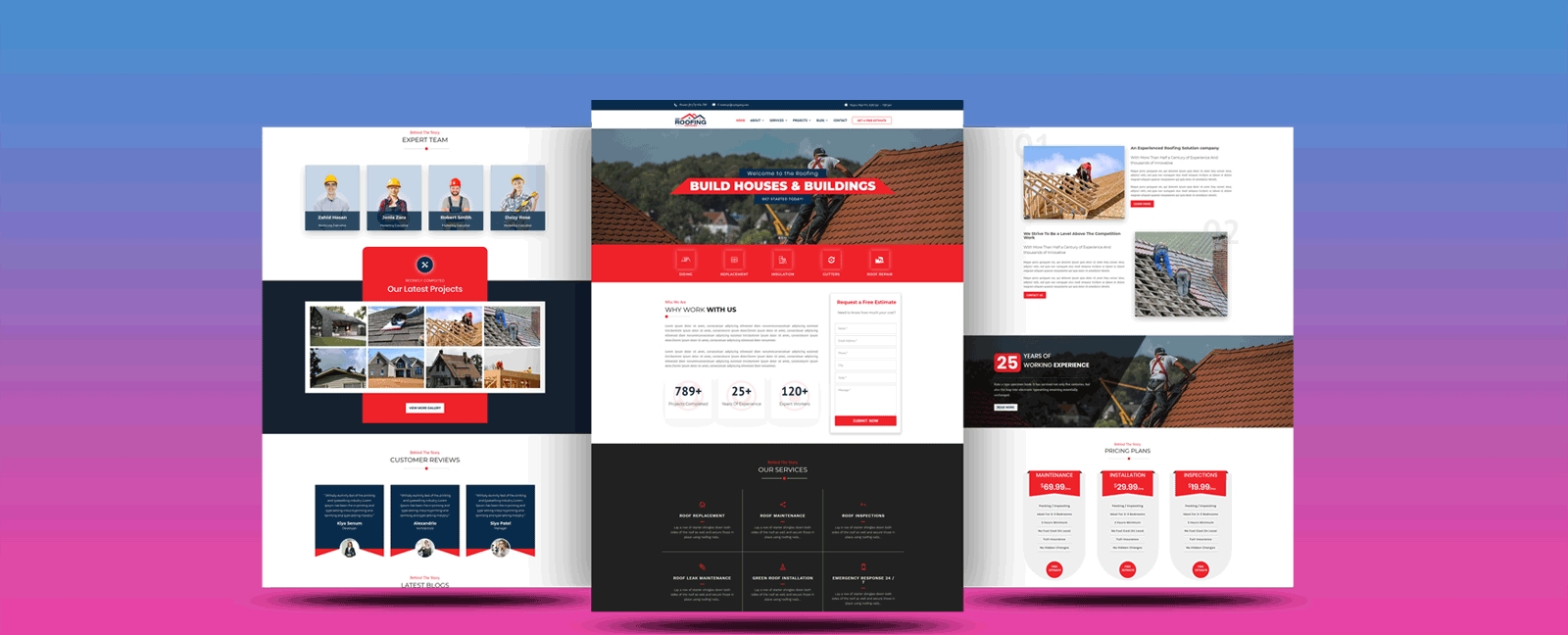 Divi Roofing Multi-page Child Themes – Contractors WordPress Theme for Roof Fixing and Construction Companies