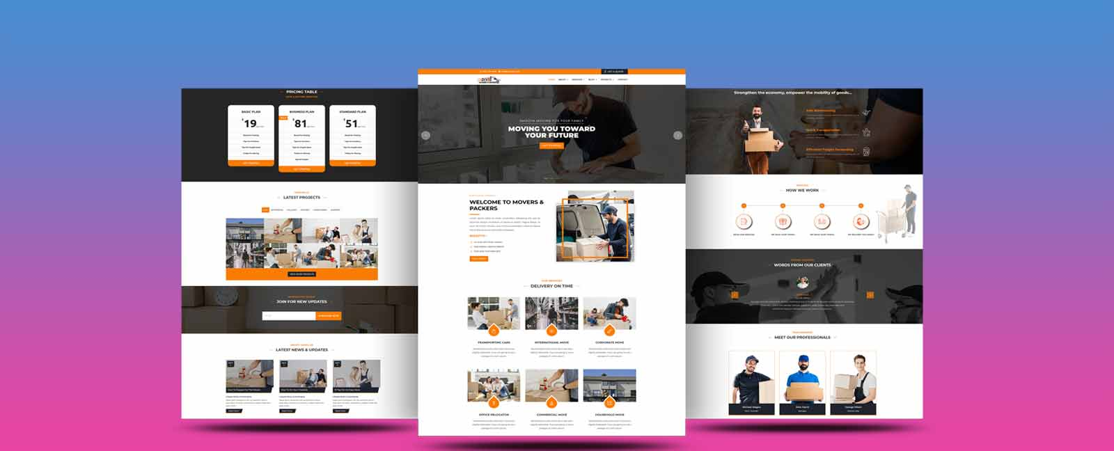 packers and movers divi theme