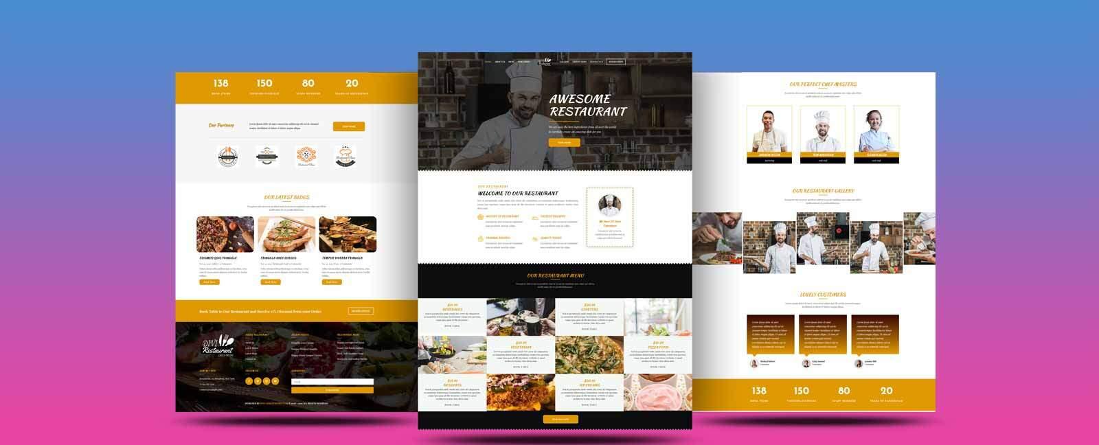Get Best Restaurant Divi Child Theme For pizza, coffee, restaurant, hotels, pub or bar business.