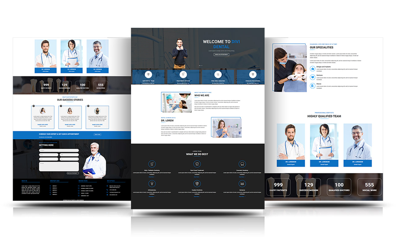 Divi Free Dental Layout