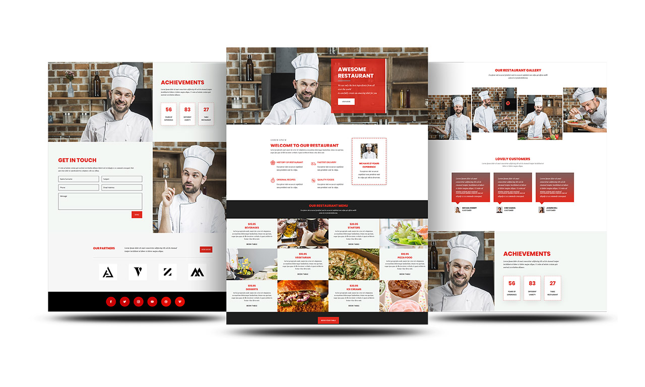 Free Divi Restaurant Layout For Food Business Divi Childthemes Com
