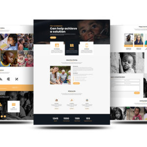 Free Divi Charity Layout