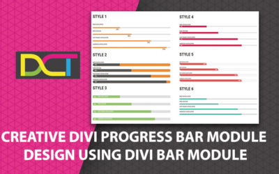 Creative Divi Progress Bar Module Design Using Divi Bar Module ( 6 Divi Progress Bar Designs)