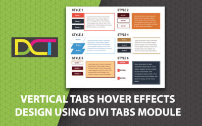 Vertical Tabs Hover Effects Design Using Divi Tabs Module ( 6 Divi Vertical Tabs Designs)