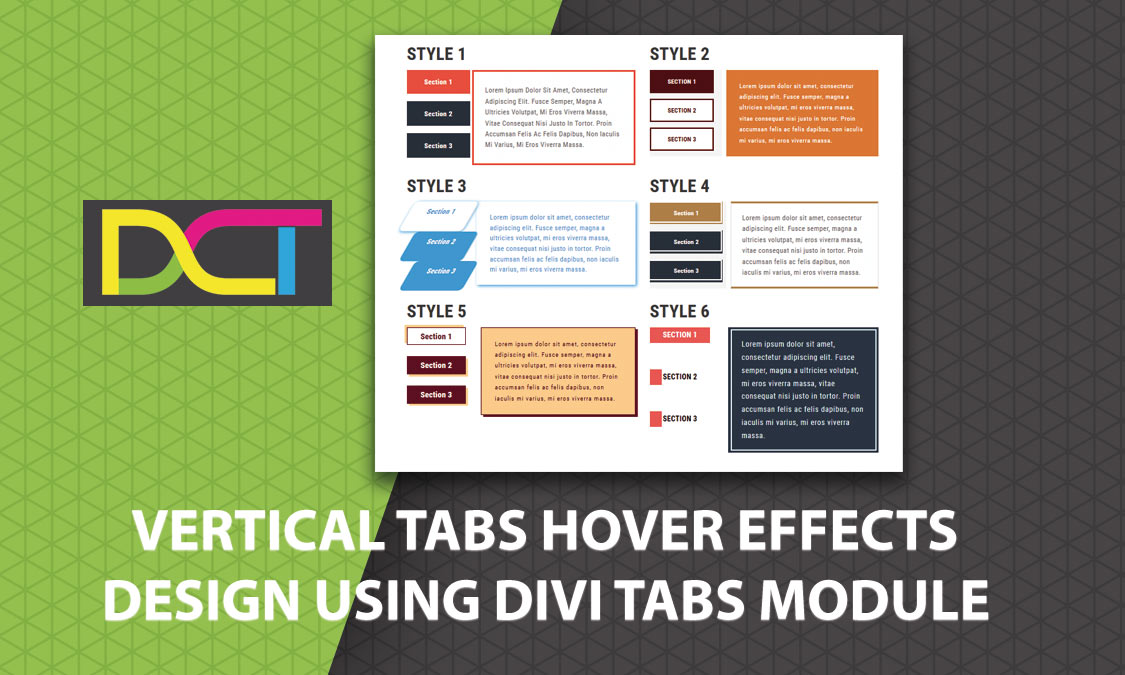 Vertical Tabs Hover Effects Design Using Divi Tabs Module