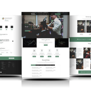 divi barber theme