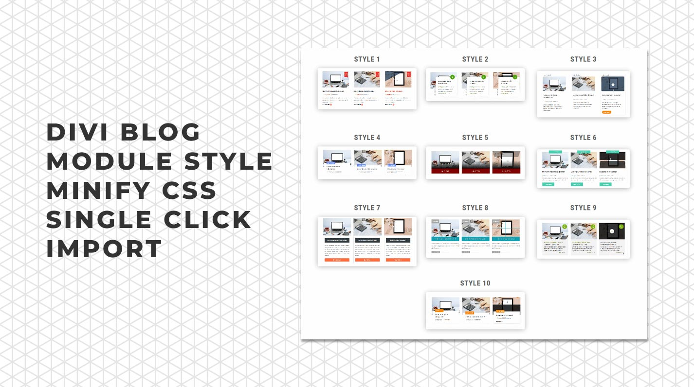 divi blog layouts pack